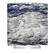 Flying Over Colorado Rocky Mountains Shower Curtain