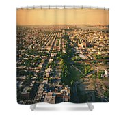 Flying Over Jersey City Shower Curtain
