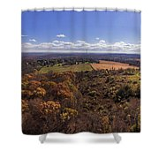 Flying Over New Milford Shower Curtain