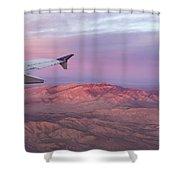 Flying Over The Mojave Desert At Sunrise Shower Curtain