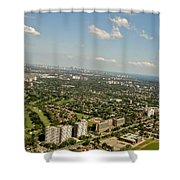 Flying Over Toronto Shower Curtain