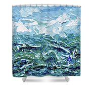 Flying Overseas Shower Curtain
