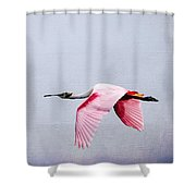 Flying Pretty - Roseate Spoonbill Shower Curtain