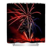 Flying Prom Fireworks Shower Curtain