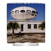 Flying Saucer House Shower Curtain