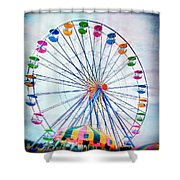 Flying Saucers Shower Curtain