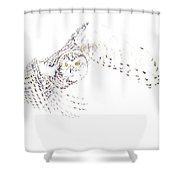 Flying Snowy Owl Shower Curtain