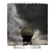 Flying The Friendly Skies Shower Curtain