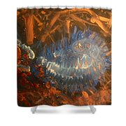 Flying Through Fire Shower Curtain