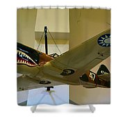 Flying Tigers Aircraft Shower Curtain
