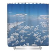 Flying To Toronto, July 2014 Shower Curtain