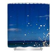 Foam Burst -  Triptych - 1 Of 3 Shower Curtain