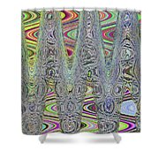 Foam On The Beach Abstract Shower Curtain