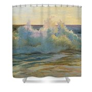 Foaming Waves At Beach Shower Curtain