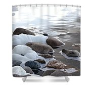 Foamy Rocks Shower Curtain