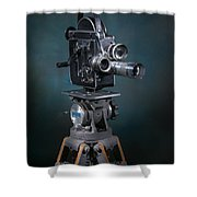 Focus In Blue Shower Curtain by Break The Silhouette