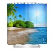 Focus On Palm Tree Shower Curtain