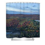 Fog And Fall Colors Shower Curtain