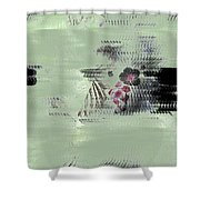 Fog And Flowers Shower Curtain