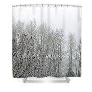 Fog And Light Snow Shower Curtain