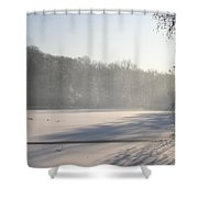 Fog And Snow Shower Curtain