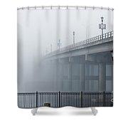 Fog At Granada Bridge Shower Curtain