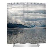 Fog Bank In Gastineau Channel Shower Curtain