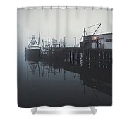 Fog Before Sunrise Shower Curtain