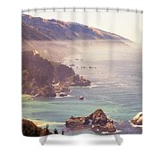 Fog Big Sur Shower Curtain