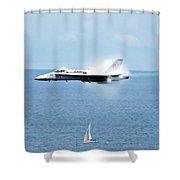Fog Building Hornet Shower Curtain