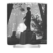 Fog In The Cemetery Shower Curtain