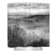 Fog In The Mountains - Pipestem State Park Shower Curtain