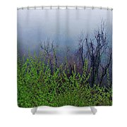Fog In The Mountains Shower Curtain