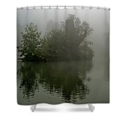 Fog In The Park- Warminster Shower Curtain