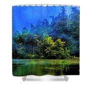 Fog Lake Shower Curtain