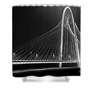 Fog Light And Lines II Shower Curtain