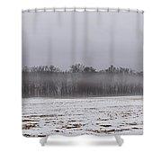 Fog Line Shower Curtain
