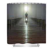 Fog Man Shower Curtain