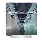 Fog - Millennium Bridge Shower Curtain