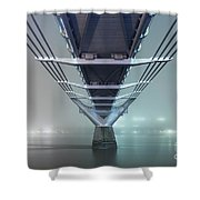 Fog - Millennium Bridge Shower Curtain