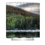 Fog On Bear Lake Shower Curtain