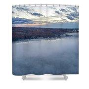 Fog On Goose Lake Shower Curtain