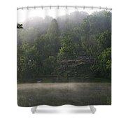 Fog On The Lake Shower Curtain