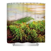 Fog On The Vines Shower Curtain