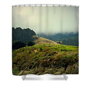Fog Over The Lagoon Shower Curtain