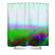 Fogged Floral Shower Curtain