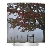 Foggy Autumn Morning In Cades Cove Shower Curtain