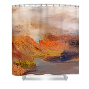 Foggy Autumnal Dream Shower Curtain
