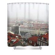 Foggy Day At Lisbon. Portugal Shower Curtain