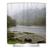 Foggy Day At Loch Lubnaig Shower Curtain